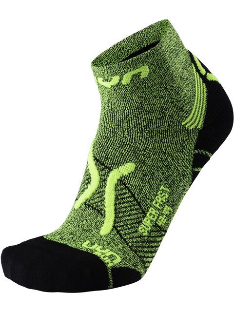 UYN M's Run Super Fast Socks Yellow Fluo Melange/Black